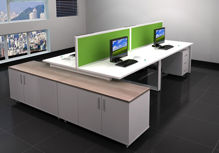 Four Seat Bench Workstation
